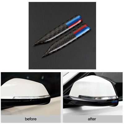 //M Sport Carbon Fiber Rearview Mirror Anti-Rub Strip Frames For BMW 1 2 4 GT X1