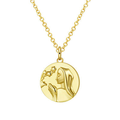 Greek Goddess Coin Necklace in 18K Gold Filled