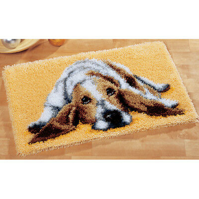 Lazy Dog Canvas Latch Hook Rug Kit - Rug Making - Everything included