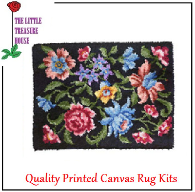 Assorted flowers Latch Hook Rug Kit Large size - 86cm X 60cm