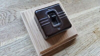 Vintage Bakelite Light Switch Antique Art Deco Toggle Switch