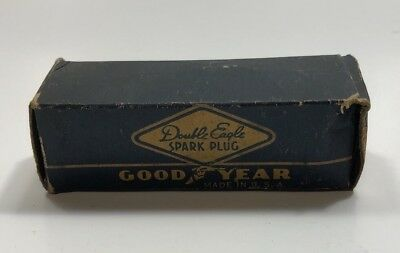Vintage Spark Plug Goodyear Double Eagle #25 Used In Original Box SHIPS FREE