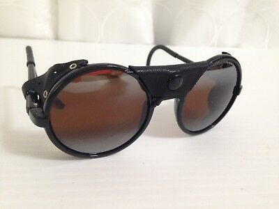 Vintage 1963 CEBE 2000 Round Sunglasses W/ Leather Side Shields France