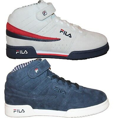 9f29691f4fd3 Boys Girls Big Kids Fila F13 PS PINSTRIPE Retro Casual Suede Nubuck Mid  Shoes