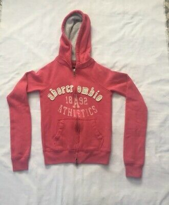 Abercrombie & Fitch Kids Girls Pink Sweatshirt  Hoodie Small- EXCELLENT!!