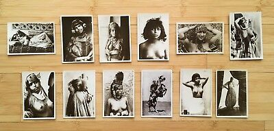 Scenes & Types, French Photo Postcards, Set of 12, Orientalism, c. 1920, RARE