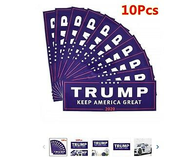 10pc Donald Trump for President 2020 Bumper Sticker Keep Make America Great Deal