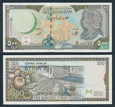 [77157] Syria 1999 500 Pounds Bank Note UNC P110c