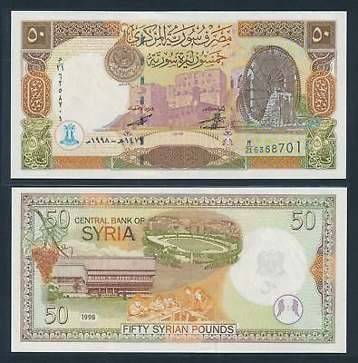 [77154] Syria 1998 50 Pounds Bank Note UNC P107