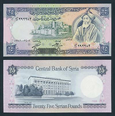 [77149] Syria 1988 25 Pounds Bank Note UNC P102d