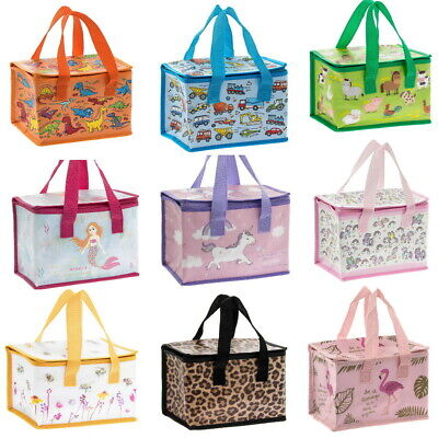 Eco School Work Lunch Bags Insulated Cool Bag Picnic Lunchbox Childrens Adults