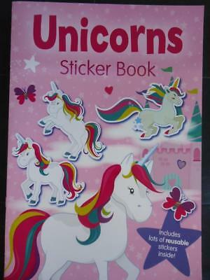Unicorns Sticker Book - Brand New