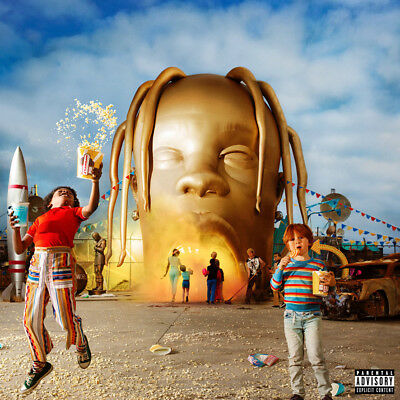 "Travis Scott Astroworld Album Poster 32x32"" 24x24"" 18x18"" New 2018 Rap Silk #2"