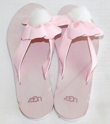 2388b7657bf NEW NWOB WOMENS 8 Seashell Pink Ugg Poppy Faux Patent Leather Flip Flops  Sandals