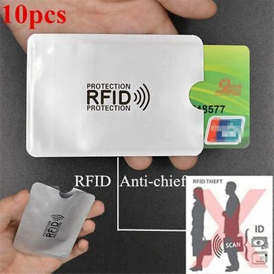 10pcs aluminum foil anti-degaussing card cover RFID shielding bag NFC credit  V2
