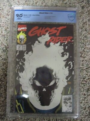 Ghost Rider 15 CBCS 9.0 glow-in-the-dark cover Marvel 1991 not cgc