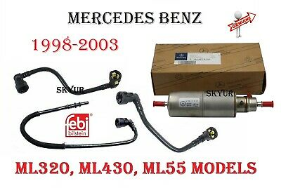 mercedes ml320 ml430 ml55 fuel filter and hose conversion kit febi