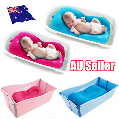 AU Baby Bath Tub Pillow Pad Air Cushion Floating Soft Seat Infant Newborn EA