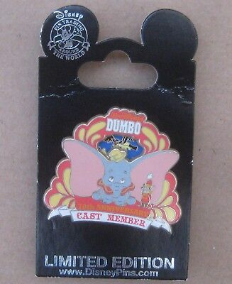 Disney Dumbo Pin Cast Member 70th Anniversary Limited Edition New on Card