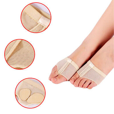 Ballet Covers Foot Forefoot Toe Undies Thong Belly Dance Half Lyrical Shoes 2pcs