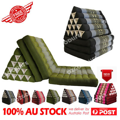 3-FOLDS  best gift  Jumbo Thai Triangle Pillow Mattress Cushion DayBed