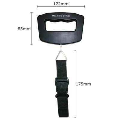 50KG Portable Digital Handheld Travel Luggage Weighing Scales with Strap