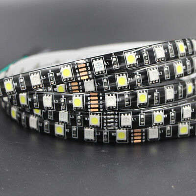 1m 5m Waterproof RGBW RGB 5050 SMD LED Strip Light Flexible black PCB Car light