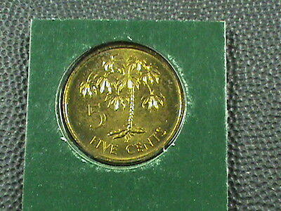 SEYCHELLES   5 Cents  1982  UNCIRCULATED  ,   $ 2.99  maximum  shipping  in  USA