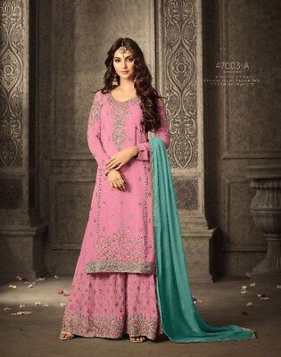 cf3f757364 Indian Bollywood Designer Palazzo Salwar Kameez Pakistani Shalwar Suit Eid  Dress