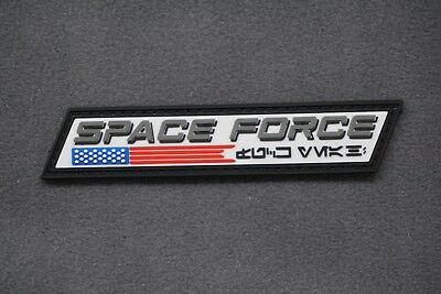 US SPACE FORCE EMBLEM PVC MORALE PATCH - united states air military tactical ufo