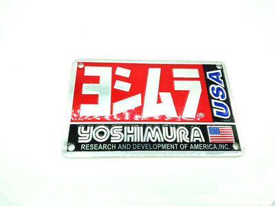1x Yoshimura Sticker Aluminium Heat-resistant Motorcycle Exhaust Pipe USA Decal