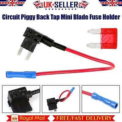 Mini Blade Fuse Holder ATM ATP Add A Circuit Piggy Back Fuse Tap 12V UK