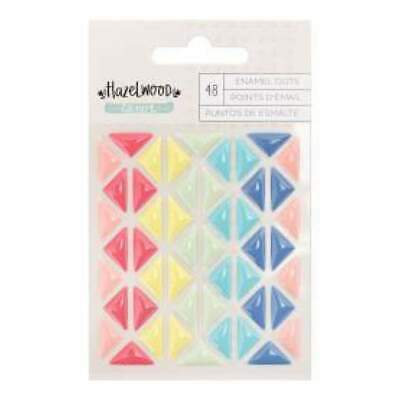 NEW American Crafts - Hazelwood Self-Adhesive Enamel Dots -Triangles