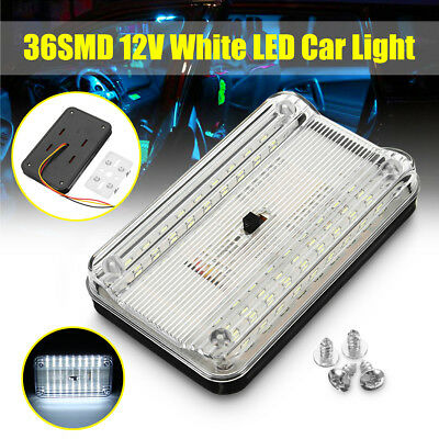 36 LED Car Bus Vehicle Interior Dome Roof Ceiling Reading Trunk Light Lamp 12V