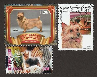 AUSTRALIAN TERRIER **Int'l Dog Stamp Collection **Unique Gift**