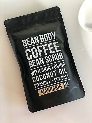 2 x BEAN BODY Organic Coffee Scrub - Mandarin 220 g BODY SCRUB NEW UN-USED