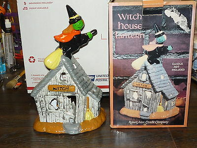 Ceramic Halloween,witch House Lantern, Candle Holder