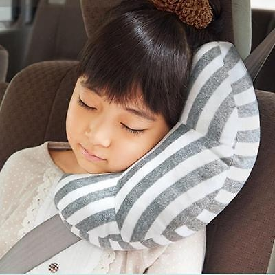 Car Seat Belt Safety Headrest Pillow Kids Head Neck Support Pad Travel Protector