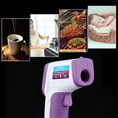 Digital Thermometer Red Laser Infrared Thermometer Gun Non-Contact Back Light(4