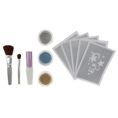 1 Set Glitter Tattoo Kit Körper Kunst Schimmer Glitter Tattoo Temporäre