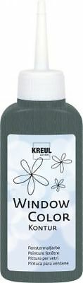 "KREUL Fensterfarbe ""Window Color Kontur"" 80ml Kinderfarbe Bastelfarbe"