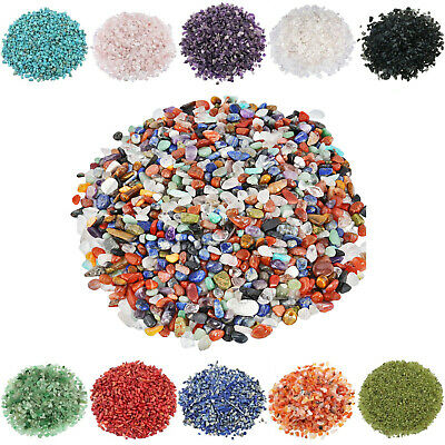 1LB Natural Chips Crushed Crystal Gems Undrilled Tumbled Various Gravel Optional