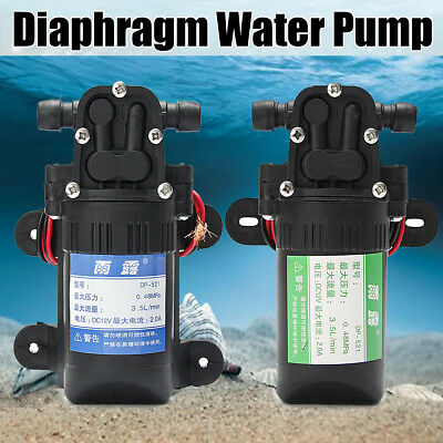 DC 12V 80PSI 3.5L/min Micro Diaphragm High Pressure Water Pump Automatic Switch