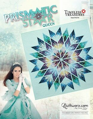 Prismatic Star Queen Foundation Paper Piecing Pattern by Judy Niemeyer