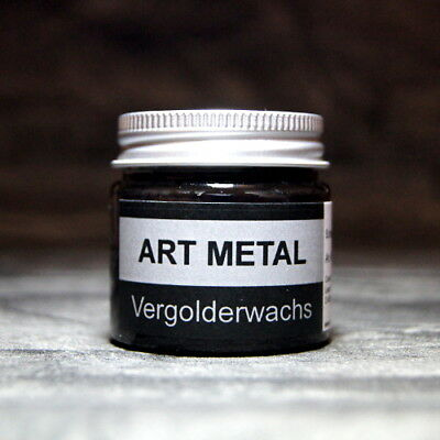 Art Metal Vergolderwachs Schwarz 50 ml vergolden versilbern
