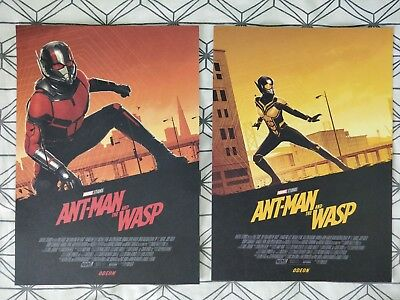 Marvel Ant-Man And The Wasp ODEON A4 Sized Both Posters 1 & 2 FULL SET (Ant Man)