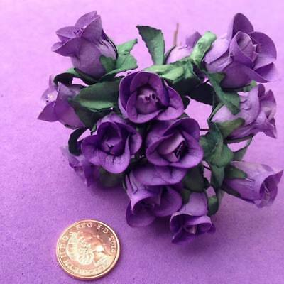 Purple Paper Flowers (lg), Roses, Embellishments, Wedding Craft Job Lot