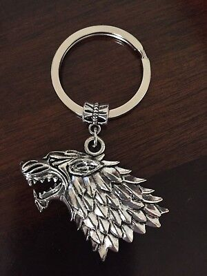 Dire Wolf Game Of Thrones Keyring/Keychain Novelty Gift