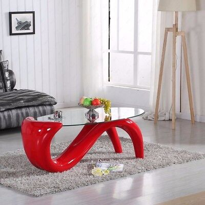 Modern Style Mermaid Coffee Table Available in Red, Back & White