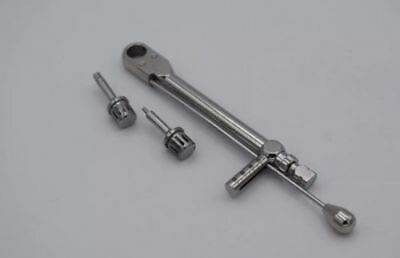 Dental Implant Torque Wrench Ratchet Dental Instrument 10-70 NCM With Drivers